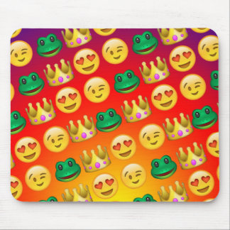 Frog & Princess Emojis Pattern Mouse Pad