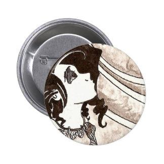 Frog Princess Ink Pinback Button