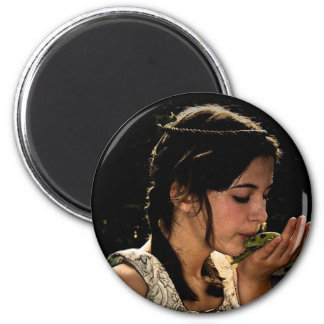 Frog Princess 2 Inch Round Magnet