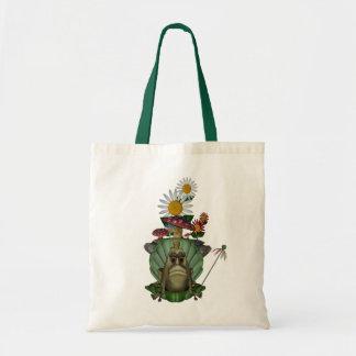 Frog Princess On Throne Cute Tote Bag