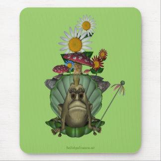Frog Princess On Throne Whimsical Mousepad