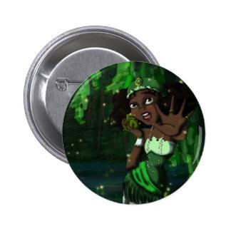Frog Princess Pinback Button