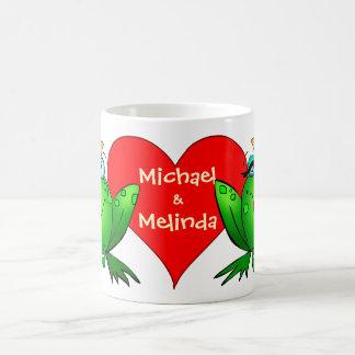 Frog Princess Prince Love Names Classic White Coffee Mug