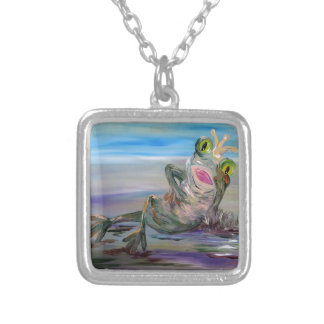 Frog Princess Silver Plated Necklace