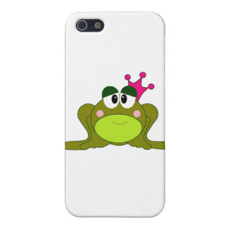 Frog Princess With Pink Crown Cartoon Cover For iPhone 5