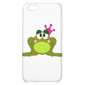 Frog Princess With Pink Crown Cartoon iPhone 5C Cover