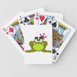 Frog Princess With Pink Crown Cartoon Poker Cards
