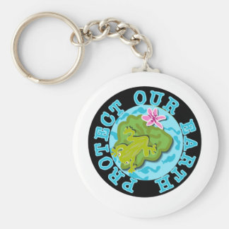 Frog Protect Our Earth Keychain