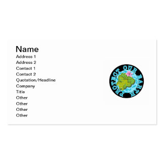 Frog Protect Our Earth T-shirts and Gifts Business Card