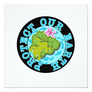 Frog Protect Our Earth T-shirts and Gifts Card