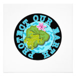 Frog Protect Our Earth T-shirts and Gifts Custom Announcements