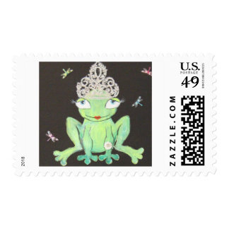 Frog Queen Postage Stamp