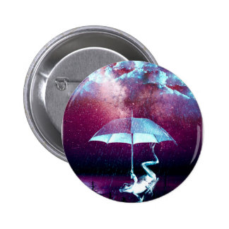 Frog Rain Umbrella Animals Pinback Button