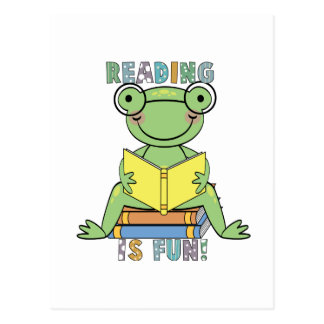 Frog Reading is Fun T-shirts and Gifts Postcard