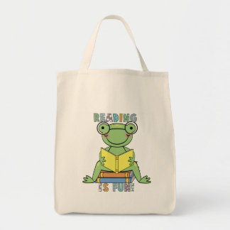 Frog Reading is Fun T-shirts and Gifts Tote Bag