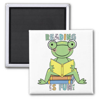 Frog - Reading is Fun Tshirts and Gifts Magnet