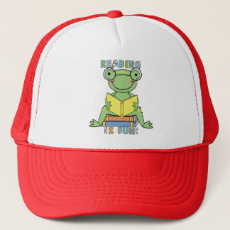 Frog - Reading is Fun Tshirts and Gifts Trucker Hat