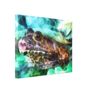 Frog Ready to be Kissed Canvas Print