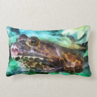 Frog Ready to be Kissed Throw Pillow