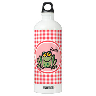 Frog; Red and White Gingham SIGG Traveler 1.0L Water Bottle