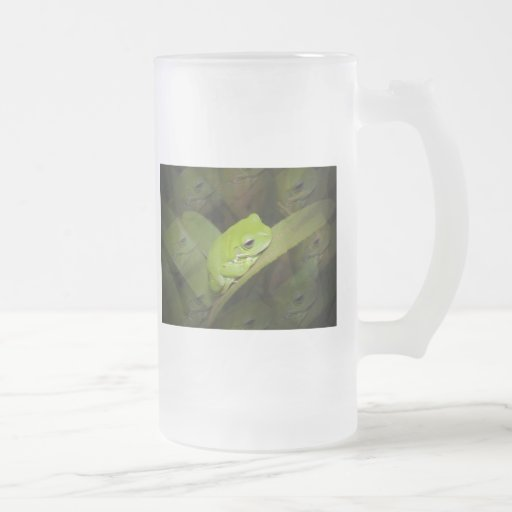 Frog Reflections Frosted Beer Mug