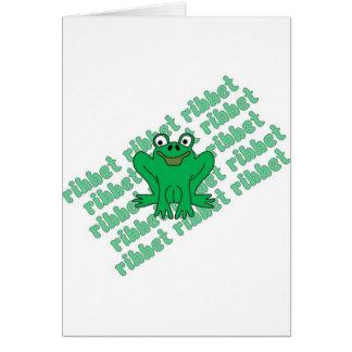Frog Ribbet Card