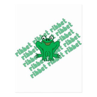 Frog Ribbet Postcard