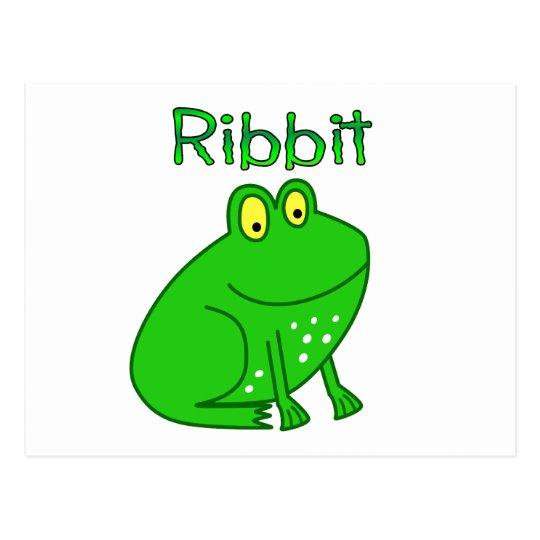 Frog Ribbit Postcard