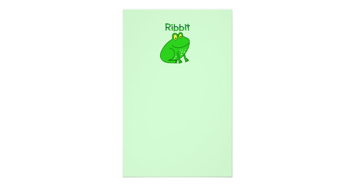 Frog Wedding Invitations: Frog Ribbit Stationery