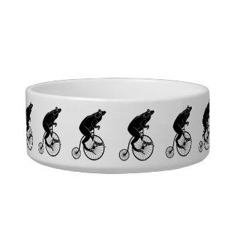 Frog Riding a Bike Bowl