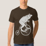 Frog Riding a Penny Farthing T Shirt