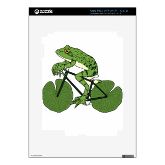 Frog Riding Bike With Lily Pad Wheels iPad 3 Skin