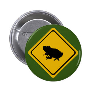 frog road sign button
