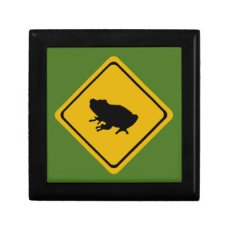frog road sign gift box