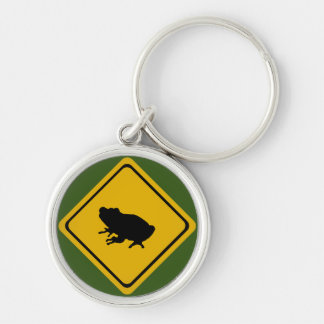 frog road sign keychain