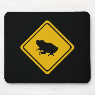 frog road sign mouse pad