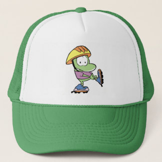 Frog Roller Blade Cartoon Trucker Hat