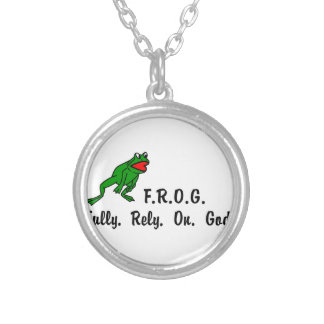 Frog Round Pendant Necklace