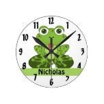Frog Round Wallclocks