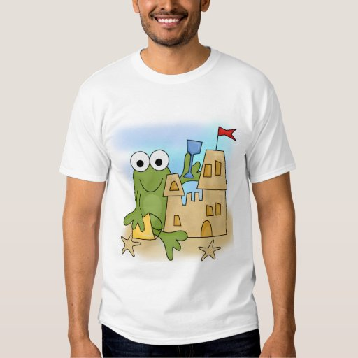 Frog Sand Castle Tshirts and Gifts