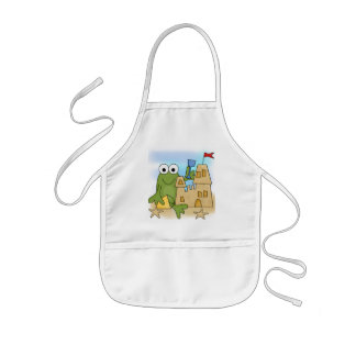 Frog Sand Castle Tshirts and Gifts Apron