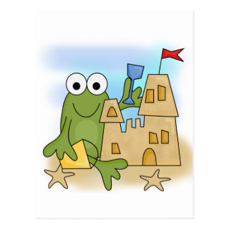 Frog Sand Castle Tshirts and Gifts Postcard