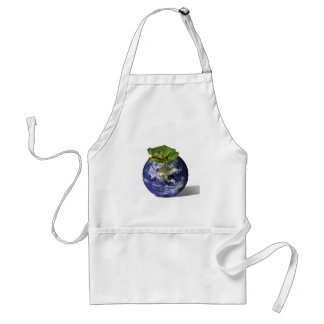 Frog Save The World Adult Apron