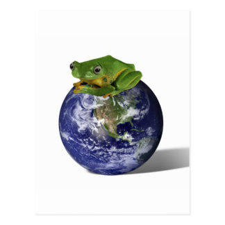 Frog Save The World Postcard