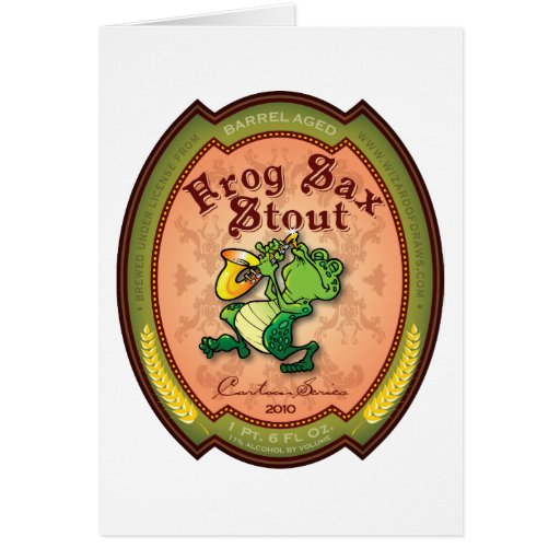 Frog Sax Stout Label Card