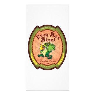 Frog Sax Stout Label Photo Card