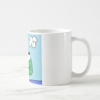 frog scored coffee mug