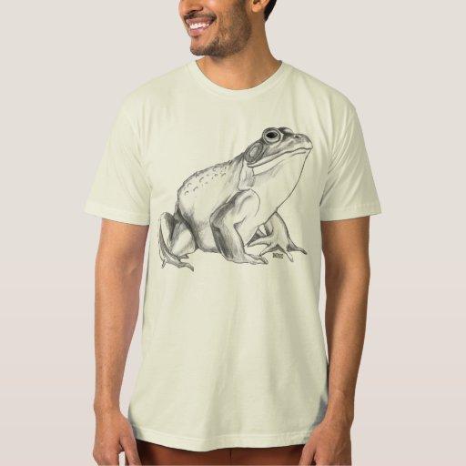 Frog Shirt Bullfrog Art T-shirt Organic Frog  Gift