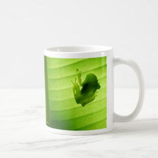 Frog silhouette coffee mug