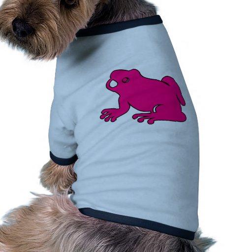 Frog Silhouette Froggy Jump Amphibians Hop Dog Tshirt